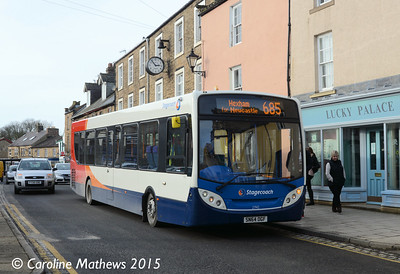 Stagecoach 27142 (SN64OGF), Haltwhistle, 2nd February 2015