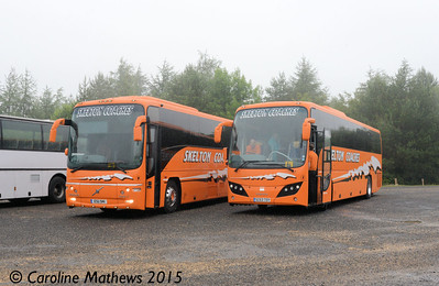 Skelton Coaches 8 (SC63TOY) and 9 (ESU941), Beamish, 4th July 2015