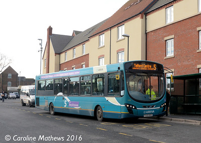 Arriva Midlands 3784 (FL63DXS), Newport, 19th January 2016