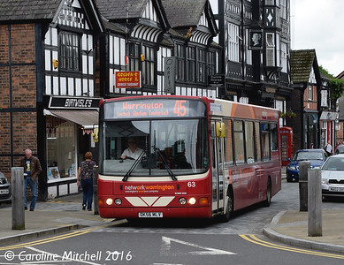 Network Warrington 63 (DK56MLV), Witton Street, Northwich, 17th June 2016