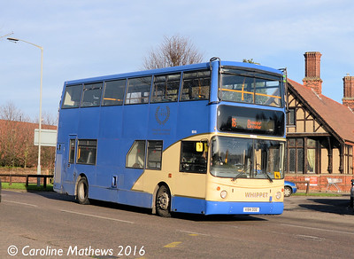 Whippet WD414 (V184OOE), Huntingdon, 8th January 2016