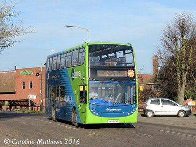 Stagecoach 15199 (YN64ANR), Princes STreet, Huntingdon, 8th January 2016