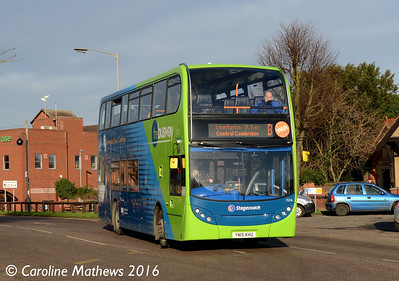 Stagecoach 15216 (YN15KHU), Princes Street, Huntingdon, 8th January 2016