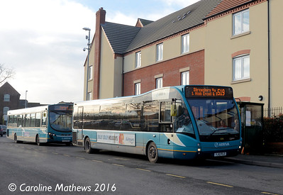Arriva Midlands 3698 (YJ12PLO), Newport, 19th January 2016