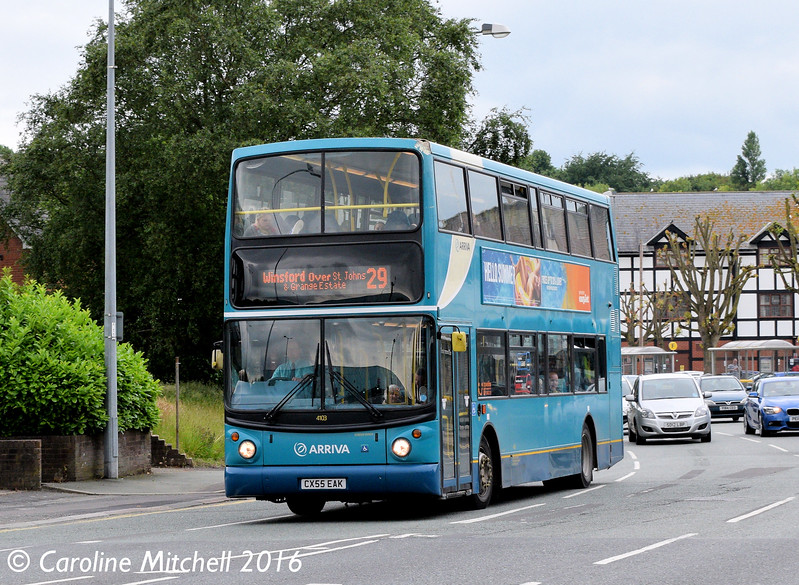 Arriva North West 4103 (CX55EAK), Watling Street, Northwich, 17th June 2016