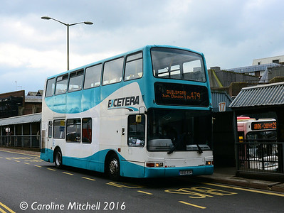 Buses Excetera X595EGK, Commercial Road, Guildford, 7th October 2016