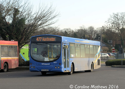 Whippet WS311 (X472AHE), Huntingdon Bus Station, 8th January 2016