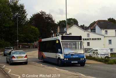 Stagecoach 47628 (YE08EZG), Monmoouth Road, Abergavenny, 26th September 2019