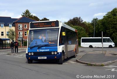 Stagecoach 47636 (CN58BYF), Abergavenny Bus Station, 26th September 2019