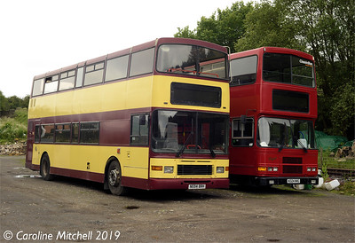 Red Bus Days N594BRH and N324NHG, Bolton Abbey Station Yard, 26th June 2019