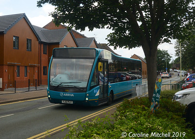 Arriva Midlands North 3696 (YJ12PLV), Towers Lawn, Market Drayton, 26th July 2019