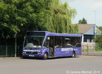 Bennetts X418BBD, Market Drayton Bus Station, 26th July 2019