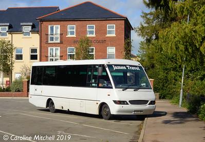 James Travel YK05DKV, Abergavenny Bus Station, 26th September 2019