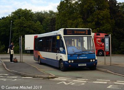 Stagecoach 47628 (YE08EZG), Abergavenny Bus Station, 26th September 2019