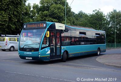 Arriva Midlands North 3691 (FJ13BJE), Market Drayton, 26th July 2019