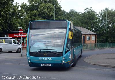 Arriva Midlands North 3697 (YJ12PLU), Market Drayton, 26th July 2019