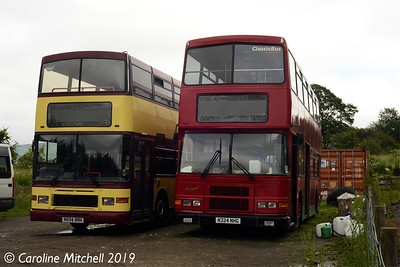 Red Bus Days N324NHG and N594BRH, Bolton Abbey Station Yard, 26th June 2019