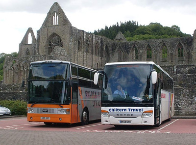 Chiltern Travel BK58URH & Golden Pioneer 855GPT, Tintern Abbey, 31st May 2011