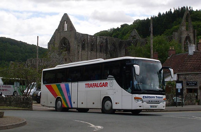 Chiltern Travel BK58URH, Tintern Abbey, 31st May 2011