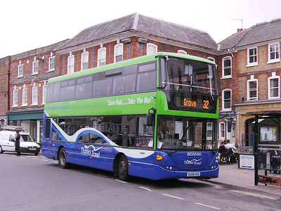 Thames Travel 608 (OU08HGO), Wantage, 7th September 2009