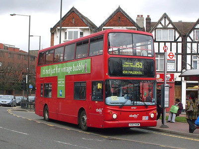 Abellio 9707 (V307KGW), Upper Green, Mitcham, 27th March 2010