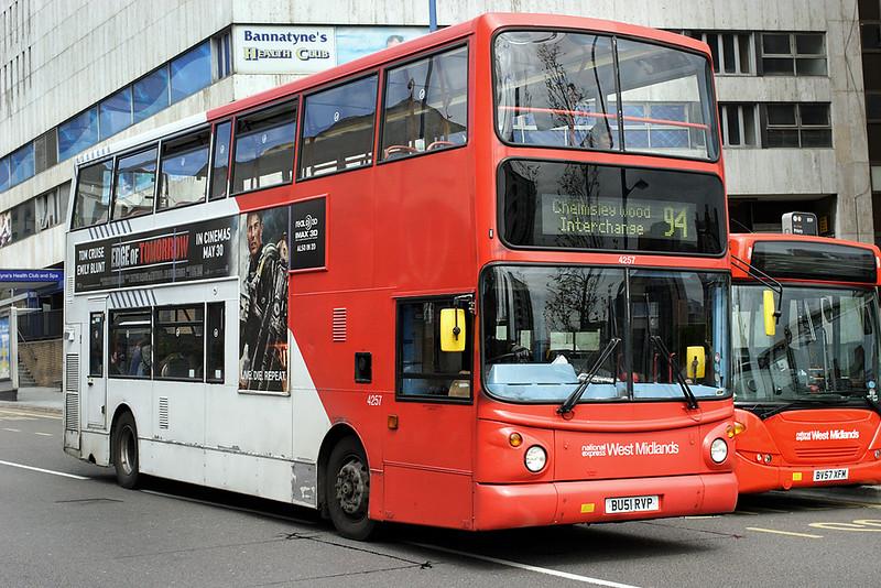 4257 BU51RVP, Birmingham 23/5/2014