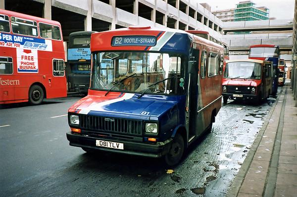 81 D81TLV, Liverpool 16/11/1990