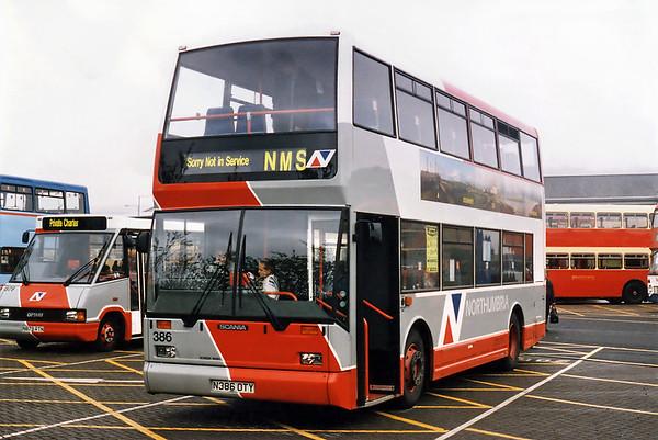 386 N386OTY, Gateshead Metro Centre 12/5/1996