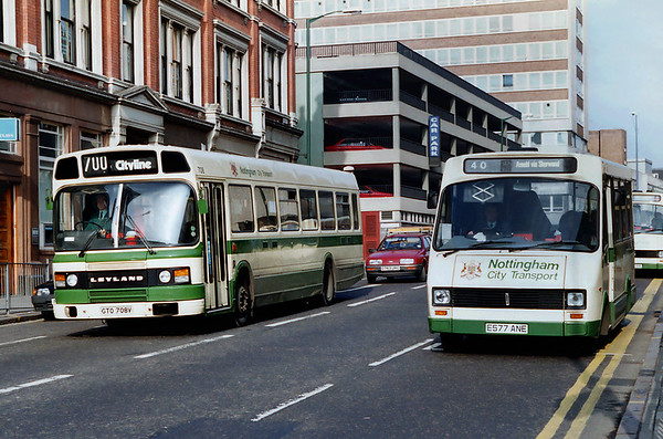 708 GTO708V and 141 E577ANE, Nottingham 4/3/1992