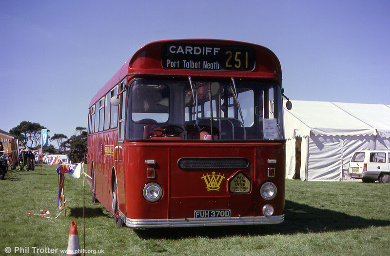Western Welsh 1370 (FUH 370D) on display at Margam Park in 2001.