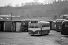 A view of the somewhat basic facilities at the Western Welsh Haverfordwest depot. 1339 (DBO 339C), a Leyland Tiger Cub/Park Royal DP41F has a couple of AEC Bridgemasters as a backdrop.