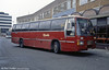 933 (A186 AHB) was a Leyland Tiger/Duple Laser C49FT built in 1984 and seen in Cardiff showing the local Rhondda livery of National Welsh. The vehicle previously carried registrations A233 VWO and AKG 293A.