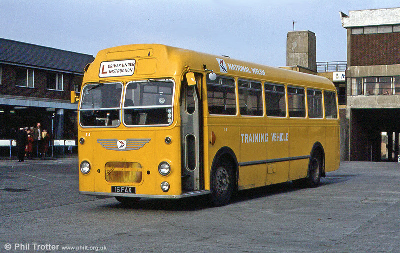 Originally Red & White U662 (16 FAX), this 1962 MW6G/ECW B45F saw out its days as training vehicle T5 with National Welsh.