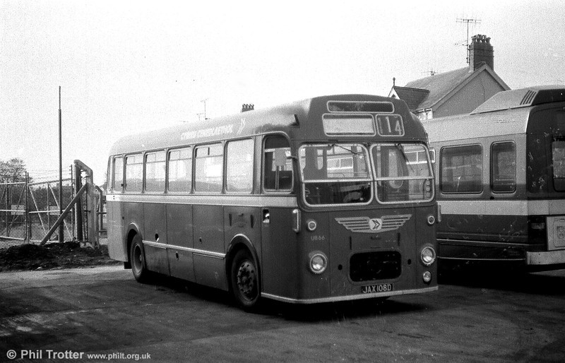 Typifying the later version of the Bristol MW6G/ECW B45F which was to be seen throughout the UK is former Red & White U866 (JAX 108D).