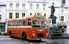 1966-built MW6GECW B45F U1066 (JAX 110D) waiting to leave Brecon Square on a damp afternoon service to Merthyr and Aberdare.