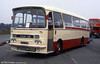Former Western Welsh AEC Reliance/Harrington C40F 145 (ABO 145B) photographed in 1996.