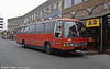 934 (AKG 296A) was another 1984 Leyland Tiger/Duple Laser C49F, this time seen in the livery of Red & White introduced by National Welsh in 1991. It was previously registered A234 VWO.