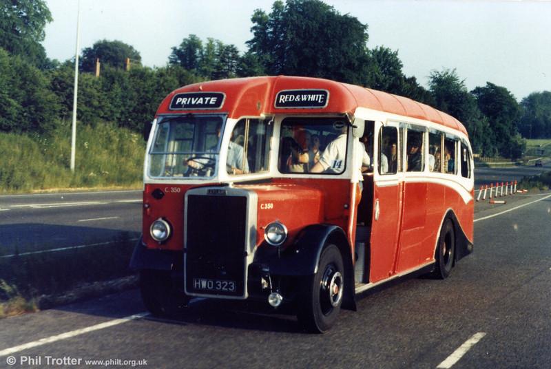 Red & White C350 (HWO 323), a Leyland PS1/Lydney Coachworks C33F.