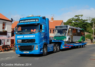 Welbourn's X15WEL and Stagecoach 47898 (MX06BSZ), Weybourne, 15th June 2014.