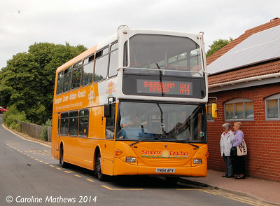 Sanders 114 (YN54AFV), Sheringham, 14th June 2014