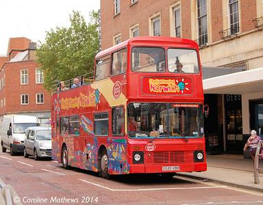 Awaydays G520VBB, Norwich, 17th June 2014