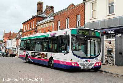 First 66334 (MV02VBZ), Wymondham, 18th June 2014
