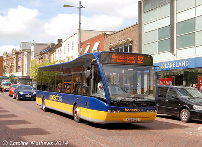 Konectbus 301 (MX08UZU), St Stephen's Street, Norwich, 17th June 2014