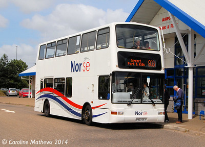 Norse 7163 (PN03ULV), Norwich Airport Park & Ride, 17th June 2014.