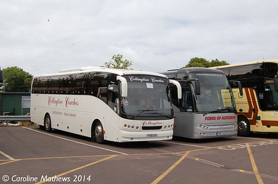Collingtree Coaches Y808GDV, Sheringham, 14th June 2014.