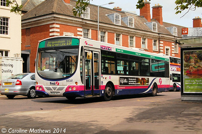First 66341 (MV02VCT), Norwich, 17th June 2014