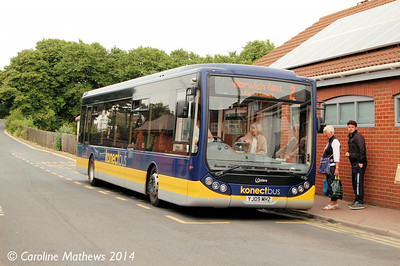 Konectbus 413 (YJ09MHZ), Sheringham, 14th June 2014