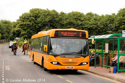 Sanders 304 (YN03UWF), Sheringham, 14th June 2014