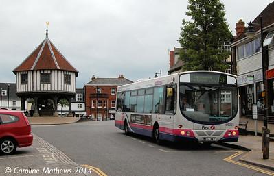 FIrst 66325 (MV02VAY), Wymondham, 18th June 2014