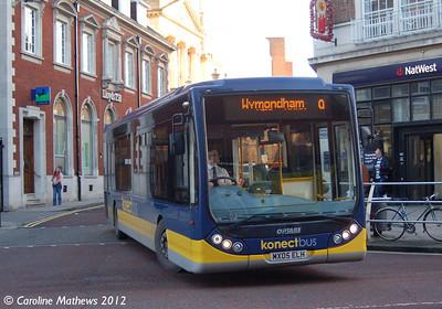 Konectbus 404 (MX05ELH), Norwich, 23rd November 2012